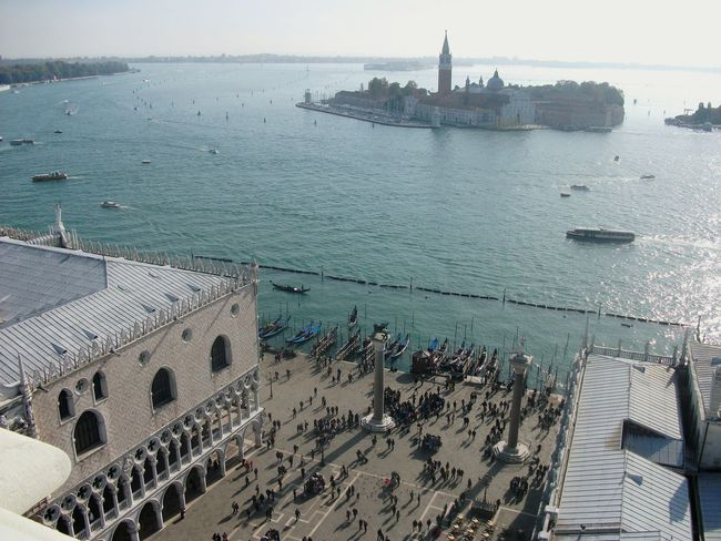 Water Sea Nautical Vessel Building Exterior Architecture Built Structure Travel Destinations Transportation Aerial View City Outdoors Day Cityscape Sky Tourism Travel Photography Traveling City Urban Skyline History Venice Italy View Square Gondola - Traditional Boat