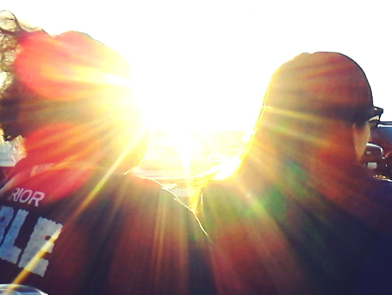 sunbeam, lens flare, sun, sunlight, day, outdoors, nature, one person, close-up, sky, people