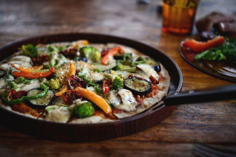 pizza Vegetarian Food Homemade Studio Shot Vegetable Casserole Italian Food Tomato Savory Food Preparation  Basil