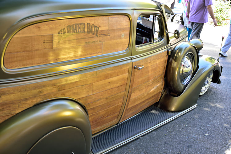 Car Of The Day 3 5th Annual Vintage Alley Car Show Downtown Hayward, Ca. 1937 Chevy Sedan - Delivery Farm Boy Woody Chrome Lowrider Classic Cars Custom Cars Car Collectors Vintage Vehicles Hot Rods Auto_Collections Automobile Photography Street Scenes Street Photography Street Fest Lifestyles Urban Photography Sideview Car Door Spare Wheel People Walking  Vintage Car Side-view Mirror Headlight