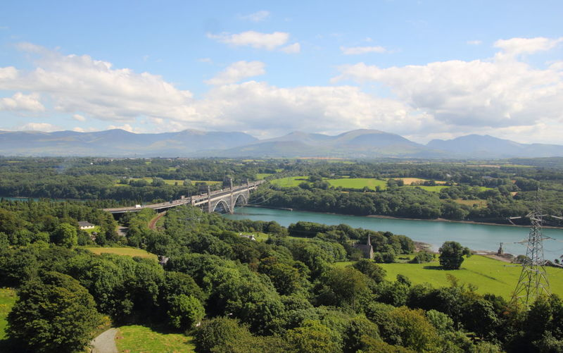 Aerial View Anglesey Britannia Bridge Composition Countryside Distant Exploring Forest Hill Landscape Lush Foliage Mountain Mountain Range Non-urban Scene Outdoors Perspective Landscapes With WhiteWall Scenics Snowdonia Top Perspective Tranquil Scene Tranquility Tree Trip Vacation