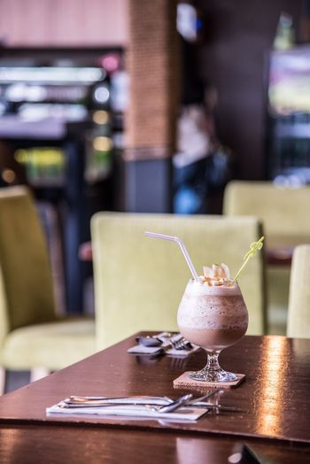 Frozen Food Ice Cream Drink Mocha Cold Temperature Dessert Cafe Drinking Glass Food And Drink Establishment Table