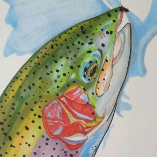 Fish Drawing Illustration copicmarkers ArtWork art