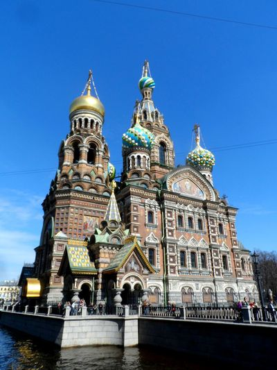 Spas Na Krovi Historical Center Architecture Blue City Famous Place Sankt-peterburg Sky Cathedral Historic Building