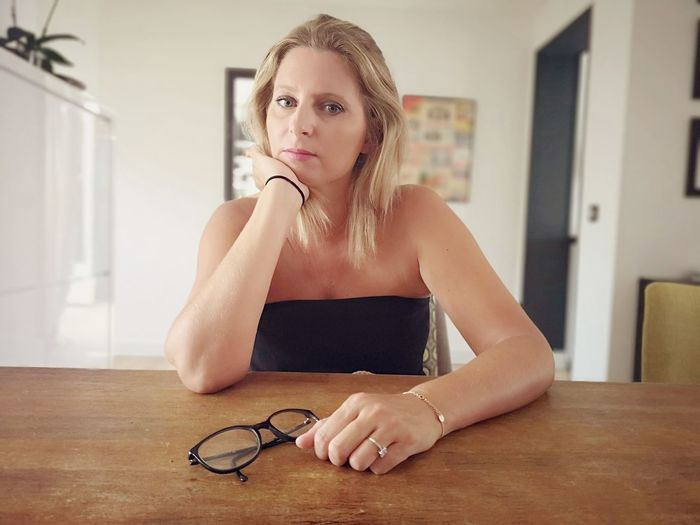 Portrait Of Serious Mature Woman At Home