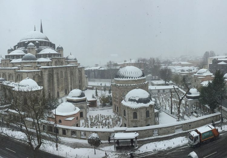 şehzadebaşıcamii Prince's Mosque Istanbul Turkey -XOXO!  Wonderful City Amazing_captures Snowday Muchlove