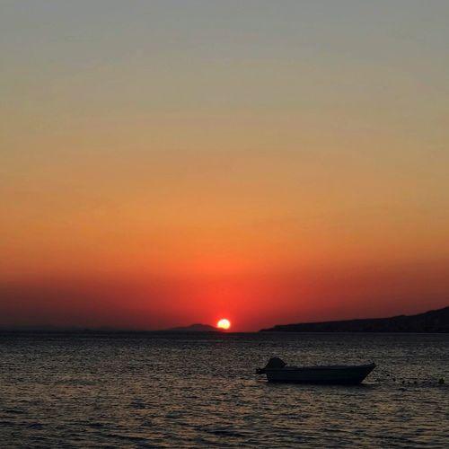 Water Sky Sunset Sea Scenics - Nature Beauty In Nature Nautical Vessel