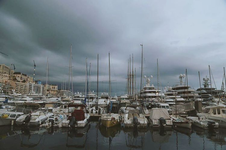 Blue Wave Port Monaco Monaco_Principaty Monacomontecarlo Montecarlo Monaco Dramatic Sky Boats And Clouds Boats And Water Reflections In The Water Pastel Power The Great Outdoors - 2016 EyeEm Awards