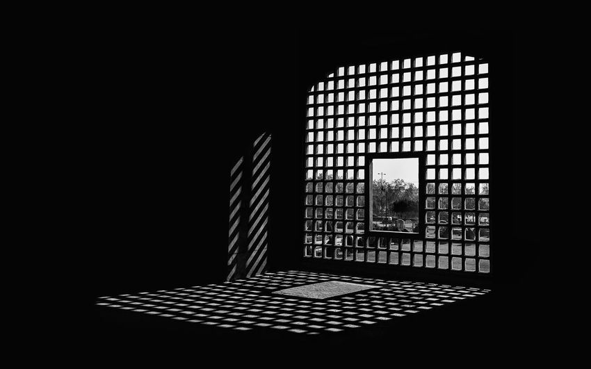 Shadow of window on building
