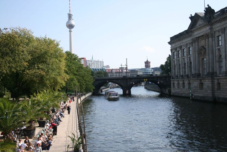 Museuminsel und Fersehturm, Berlin Architecture Beachbar Berlin Bridge - Man Made Structure Built Structure Canal Capital Cities  City City Life Cityscape Connection Day Famous Place Fernsehturm Fernsehturm Berlin  International Landmark Museumsinsel Outdoors River Sky Tall - High Tourism Travel Destinations Tree Water