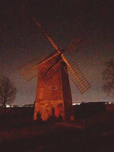 Built Structure Windmill Outdoors No People Sky Nighttime Photography