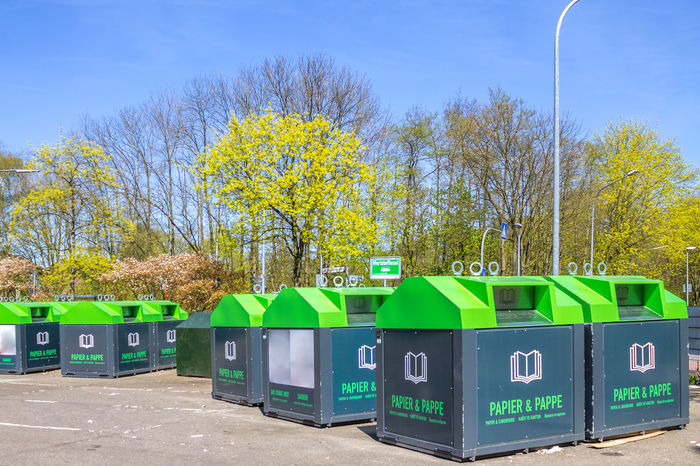 recycling Center Container Station Wasted Bin Can Enviornmental Environment Garbage Germany Recycled Materials Recycling Recycling Center Recyle Waste Waste Management