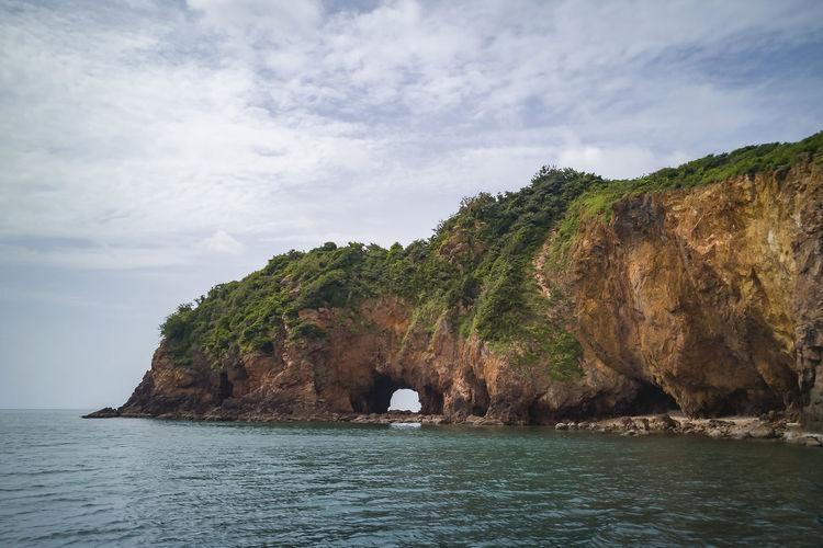 Scenic of koh talu island bang saphan noi, prachuap khiri khan, thailand.