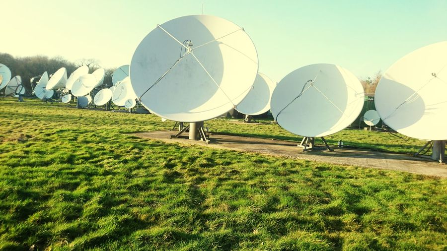 base station earth... Green Color Tranquility Grass No People Astronomy Outdoors Day