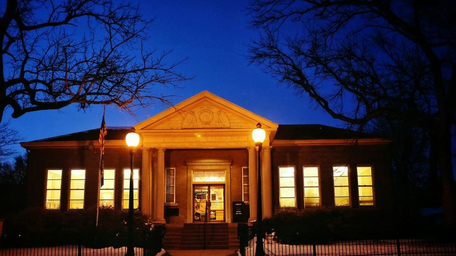 Andrew Carnegie Carnegie Library Rural AmericaNight Photography Architecture EyeEm Best Shots Nighttime Lights Photojournalism Checking Out Books Light-Play
