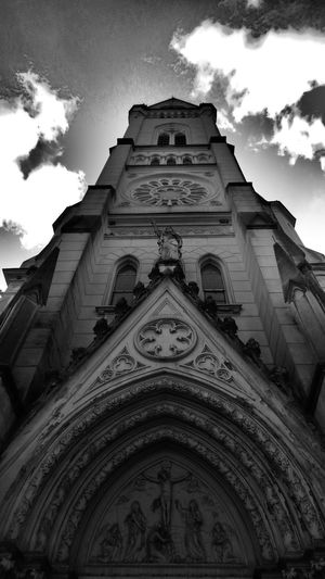 Architecture Blackandwhite Church Church Cloud Gothic Style Low Angle View No People Outdoors Sky