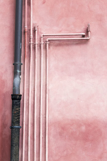 Angle Architecture Axvo Day Gardasee Gas Italia Lines Lines And Shapes No People Outdoors Pink Pipe Pipes Rohr Street Street Photography Streetphotography Wall