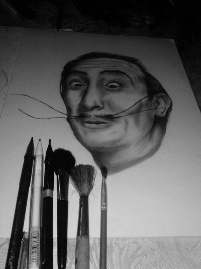 Darwing Carboncillo Salvadordali Dibujoartistico Dibujando Salvador Dali Dibujotime Follow4follow Followback Art