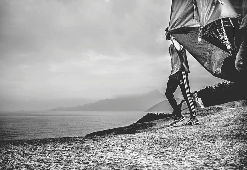 One Person Water People Nature Young Adult Day Sea HongKong Black And White Photography Blackandwhite Black & White Tapmun塔門 Tapmun Outdoor Photography Outdoors