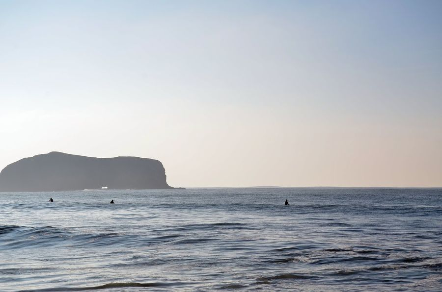 Beauty In Nature California Calm Seas Clear Sky Copy Space Experience Nature Landscape Morning Light Nature Outdoor Sports Outdoors Scenics Sea Silhouette Staying Active Surf Surfers Tranquil Scene Water Summer