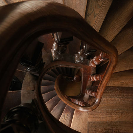 Deepness Downward Spiral Downward View Leading Down Perspective Spiral Staircase Architecture Close-up Downward Indoors  No People Steps And Staircases View From Above Wood - Material The Graphic City