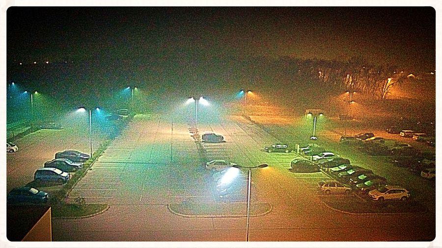 Foggy night near close Budapest! Night Night Lights Nightphotography Parking