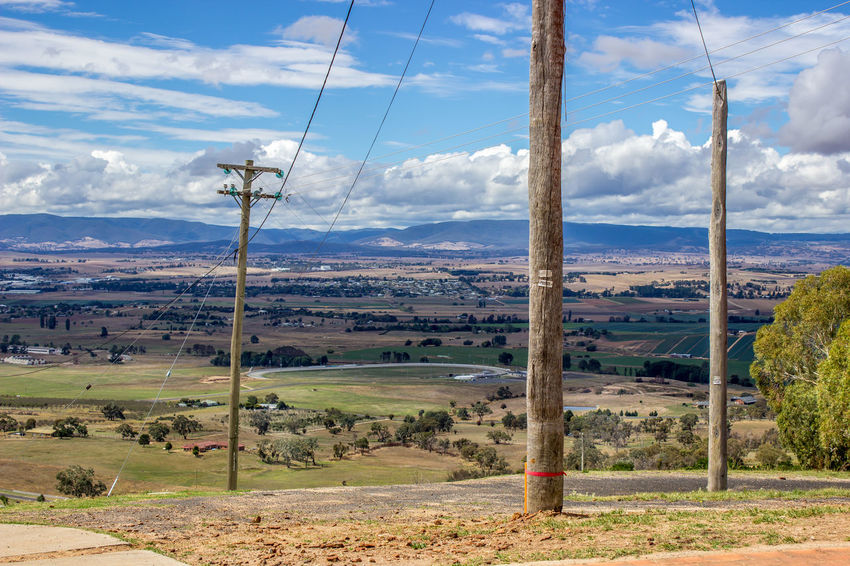 It was great to be away from the hustle and bustle of the suburbs for a little while. Cloud - Sky Day Landscape Mountain Mountain Range Nature No People Outdoors Power Line  Scenics Sky