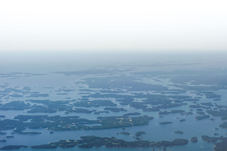 Aerial View Beauty In Nature Birds Eye View Blue And White Cloud - Sky Finland Finnish Archipelago Flying Lakeland Landscape Nature No People Plane Window Scenics Water