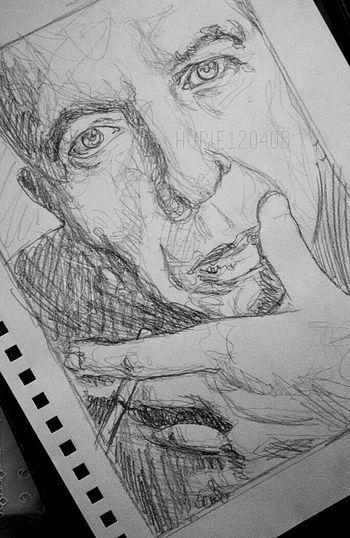 Commission in progress. Wip Art Sketch Doodling Doodle Sketchbook Art, Drawing, Creativity Portrait Music Leonardcohen ArtWork Artist Sketching Work In Progress Artistic Sketches Sketchy Doodles Doodleart