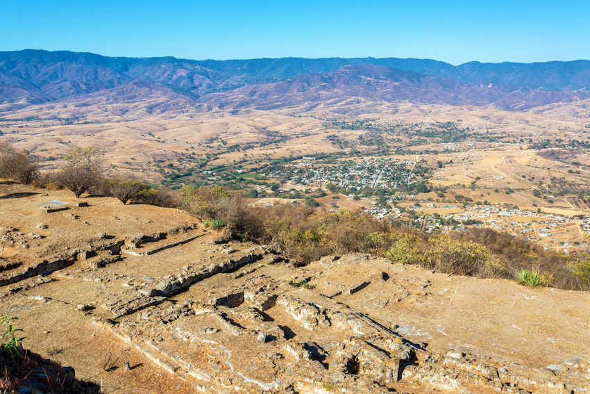 Beautiful arid landscape in Oaxaca, Mexico City Cityscape Hills Mexico Oaxaca Oaxaca México  Rock Ruins Travel Tree Beauty In Nature Culture History Landscape Monte Alban Mountain Nature Outdoors Rocks Scenics Stone Stones Tourism Towns Valley