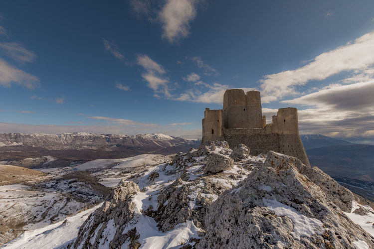 Panoramic view of castle against sky