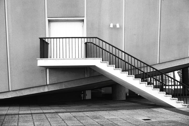 Steps And Staircases Staircase Steps Railing Architecture Building Exterior Built Structure Hand Rail Stairs Wall Closed Door Entryway