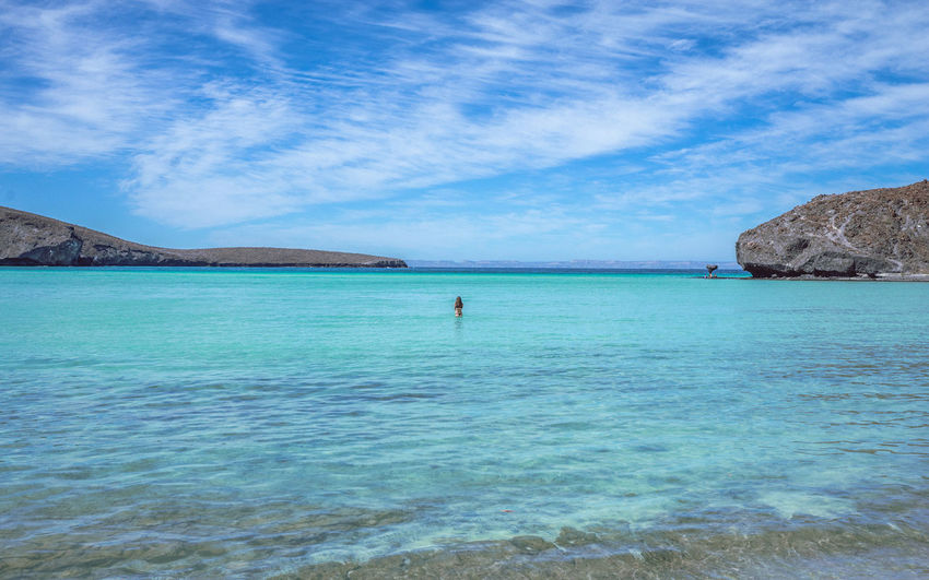 Baja California Sur Landscape_Collection Lost In The Landscape Travel Photography Beauty In Nature Blue Day Horizon Over Water Nature One Person Outdoors People Real People Scenics Sea Sky Tranquil Scene Tranquility Travel Destinations Vacations Water Waterfront