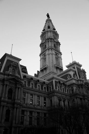 Building Cityhall Culture Downtown Famous Place Features Building Freedom Humanistic Humanistic Photography Landmarks My Black & White Photography Old Buildings Outdoors Philadelphia Photography