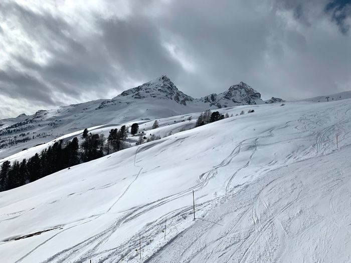 Slopes Snow Winter Cold Temperature Mountain Sky Scenics - Nature Cloud - Sky Snowcapped Mountain Beauty In Nature Environment Landscape Tranquility Nature Tranquil Scene Mountain Range Winter Sport Non-urban Scene