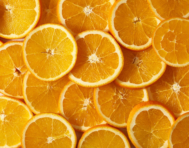 Full frame shot of orange fruit