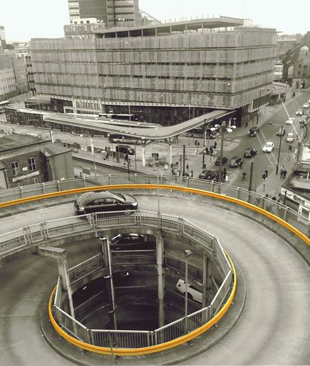 Aerial View Of Manchester Shudehill Bus Station People Public Transportation Aerial Shot Cityscapes City Life Busy Street Roads Architecture Urban View From Above Town Buildings Life In Motion Traffic Cityscape From Above Abstract