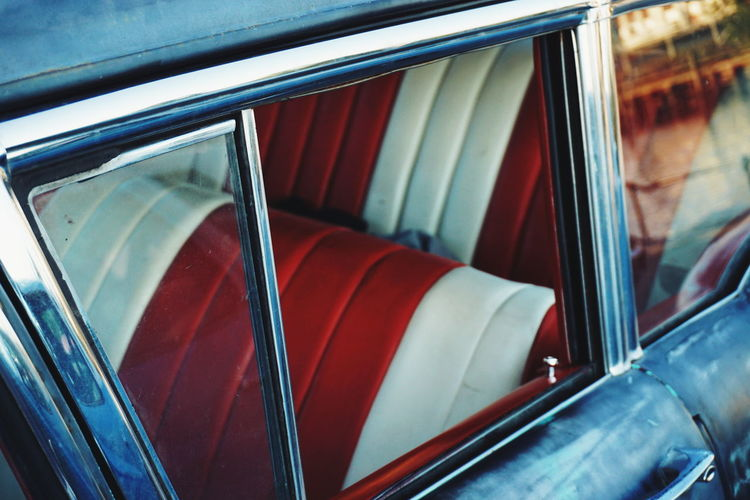 American Car American Cars Car Car Interior Cars Close-up Detail Open Window Red Vintage Vintage Cars White The Week On EyeEm Editor's Picks