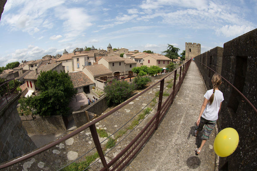 Architecture Built Structure Carcassonne Day Day Out Excursion Fisheye Fortress France HDR Medieval Travel Destinations
