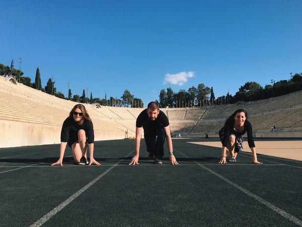 Runners Sport Stadium Running Track Olympics READY SET GOOOO!!!