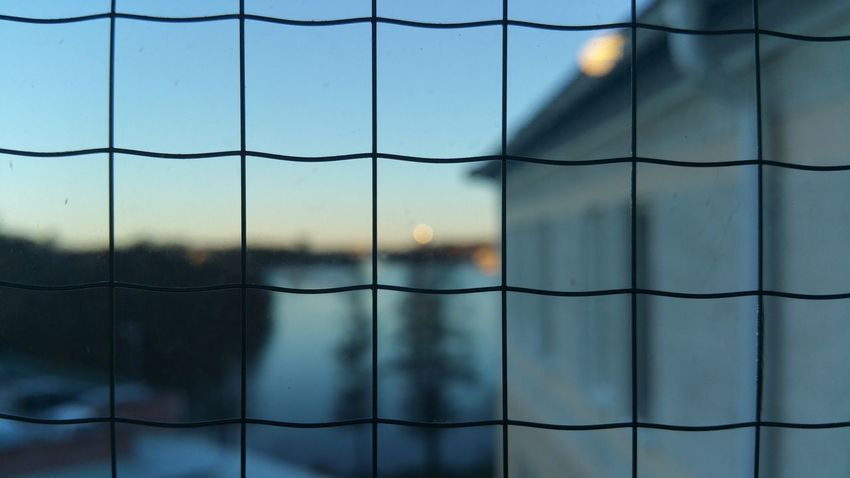Focus On Foreground Full Frame Protection Day Close-up Window Pattern Backgrounds No People Steel Sky Water Illuminated Outdoors