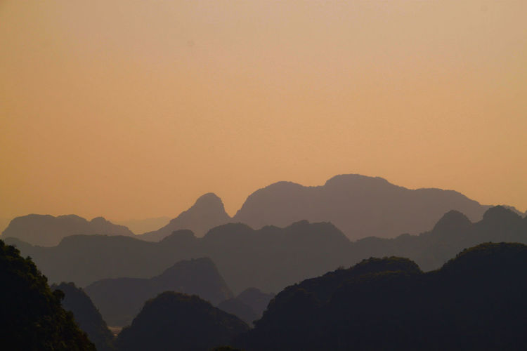 Vietnam Vietnam View Viewpoint Sunset Travel Travel Destinations Wildlife & Nature Travel Destinations Goodlife Tree Mountain Sunset Fog Beauty Silhouette Sky Landscape Mountain Range Physical Geography Natural Landmark