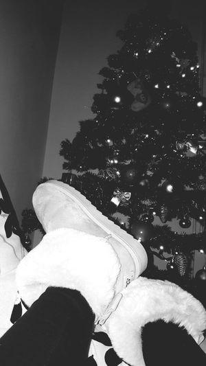 Christmas time 🎄🎁❄_______ Christmas Christmas Tree Celebration Christmas Decoration Indoors  Lifestyles Croatia Love Uggs Boots Girl Legs