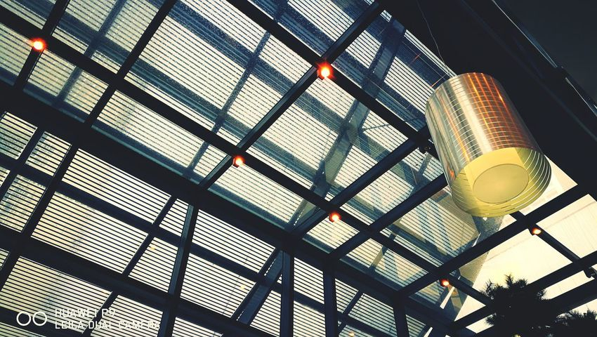 Rainy days Low Angle View Architecture Indoors  Ceiling Illuminated Modern Glass - Material Electric Light Office Building Kuala Lumpur, Malaysia HuaweiP9 Huaweiphotography Leicap9