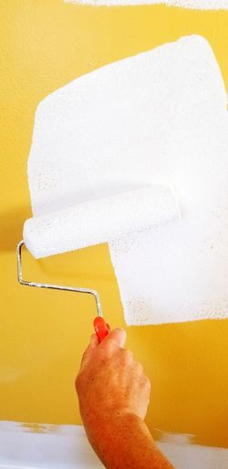 time to freshen up Painting With A Roller Stock Photo Stock Photography Stock Photos Followme Coverup Painting A Room Painting EyeEm Selects Yellow Hygiene Paint