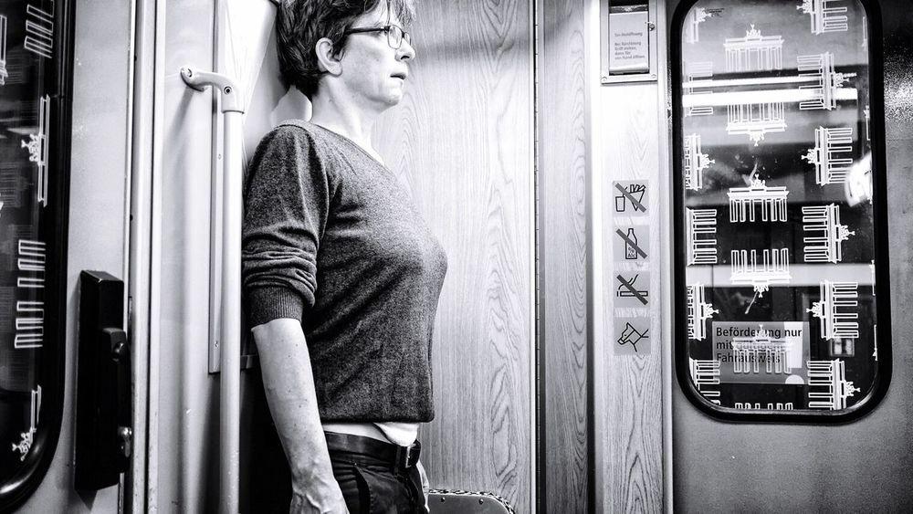 Notes Of Berlin Underground Terrified Scared Frightened  Berlin Black And White Black & White Blackandwhite Berlin Underground Monochrome The Street Photographer - 2017 EyeEm Awards
