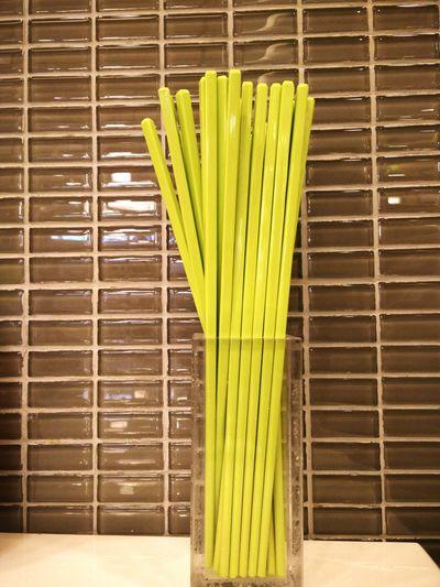 ตะเกียบ Shopsticks tall and thin No People Food And Drink Food Green Color emaciate