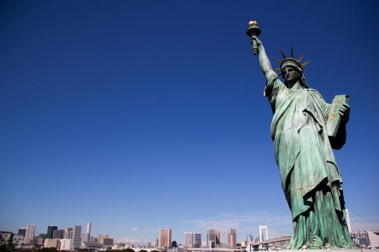 Liberty Statue Japan Liberty Statue Odaiba Odaiba Odaiba River View Skyline Skyline Tokyo Tokyo Tokyo,Japan