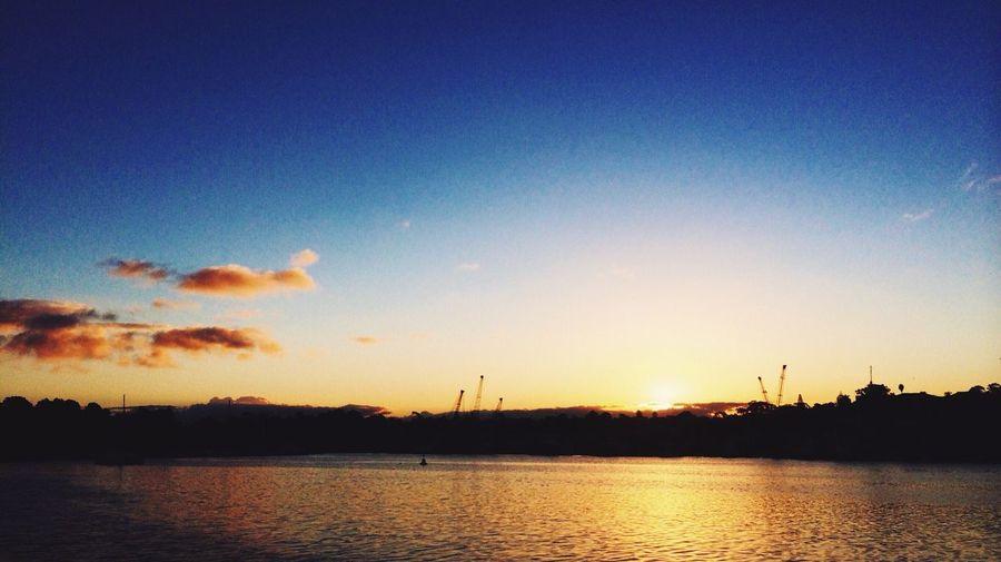 Sunset Vscocam Reflection