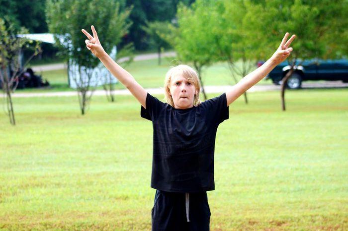 Boys life Boys Will Be Boys Boyhood Happiness Portrait Smiling Senior Adult Arms Raised Human Arm Sport